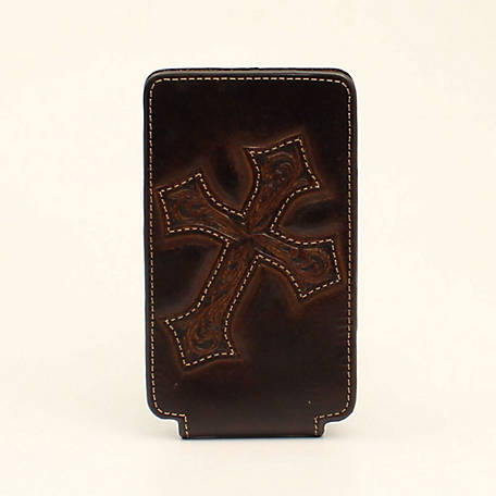 Nocona Cell Case Medium Diag Cross Medium Brown