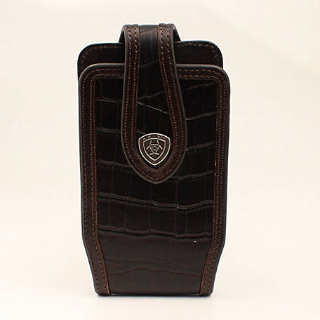 Ariat Cell Case Medium Crocodile Print Brown