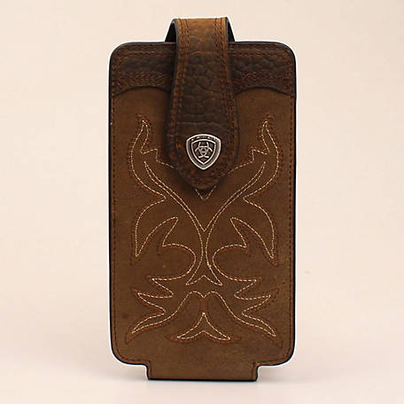 Ariat Cell Case Large Fancy Stitch Medium Brown