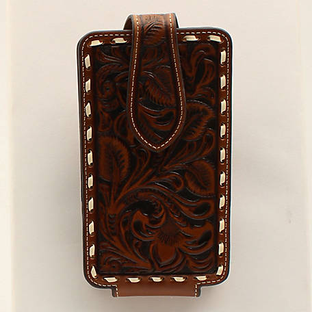 Ariat Cell Case Large Floral Embossed Brown