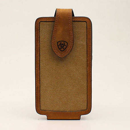 Ariat Cell Case Large Canvas with Logo Tan