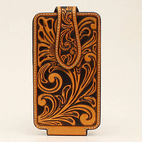 Ariat Cell Case Large Floral Embossed Natural