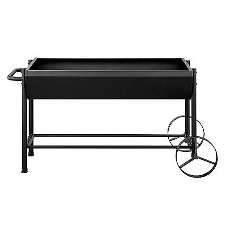GroundWork 49 in. x 23 in. Metal Rolling Planter, KFVN001