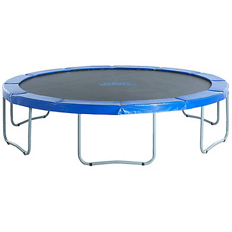 Upper Bounce 14 ft. Round Trampoline- Blue Safety Pad, UBT01-14