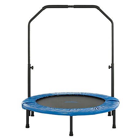 Upper Bounce 40 Mini Foldable Rebounder with Handrail, UBSF01HR-40