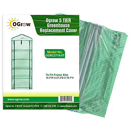 Ogrow 5 Tier Greenhouse Replacement Cover OGRC2719-5T, OGRC2719-5T