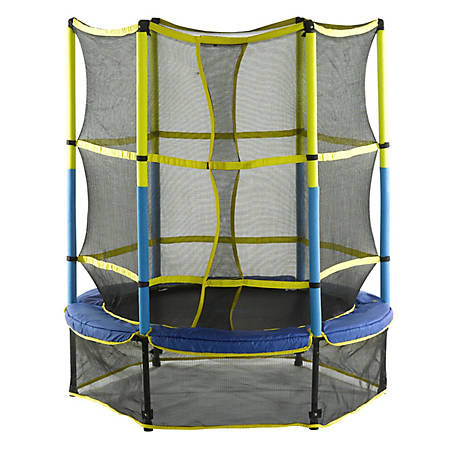 Upper Bounce 55 Kid-Friendly Trampline with Enclosure, UBSF01-55