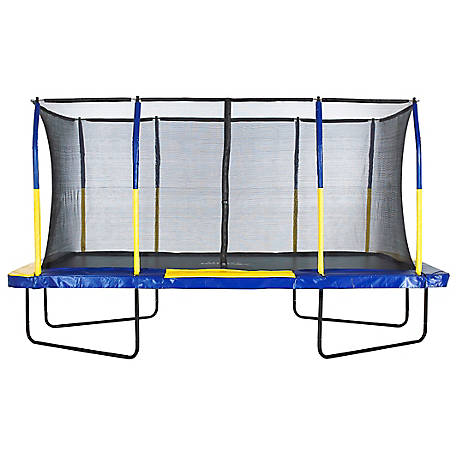 Upper Bounce Mega 9 x 15 Rectangle Trampoline-Blue/Yellow, UBRTG01-915