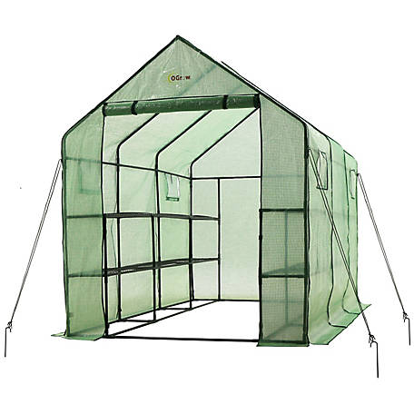 Ogrow 2 Tier 12-Shelf Walk-In Greenhouse, OG11767-PE