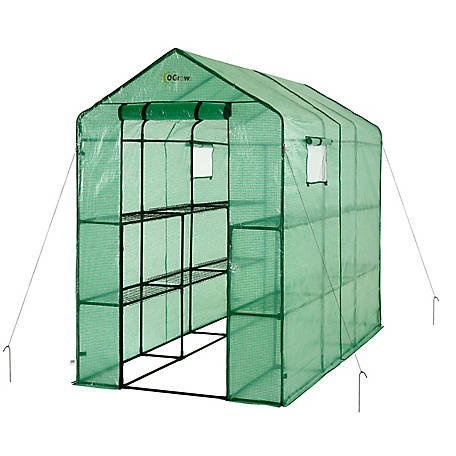Ogrow Walk-In 2 Tier 12 Shelf Greenhouse, OG4998-2T12