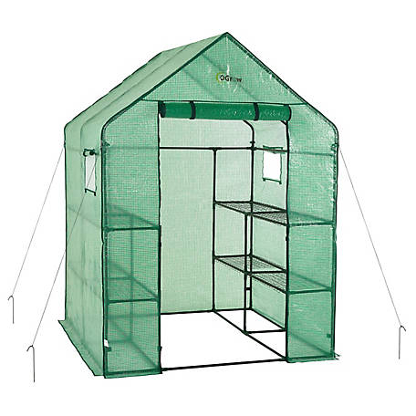 Ogrow Delux Walk-In, 2 Tier, 8 Shelf, Anchors Included, OG6868-PE