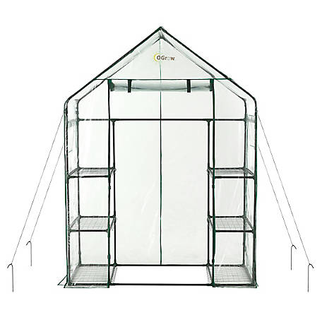 Ogrow Walkin 3-Tier 6 Shelf Greenhouse, OG6834-S