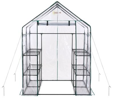 Ogrow Walk-in 6 Tier 12 Shelf Backyard Greenhouse, OG6868-D