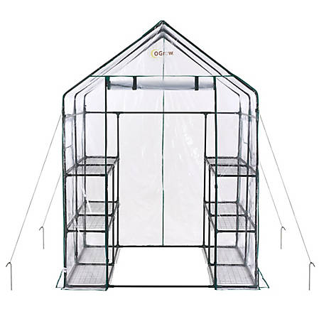 Ogrow Walkin 6 Tier 12 Shelf Greenhouse, OG6868-D