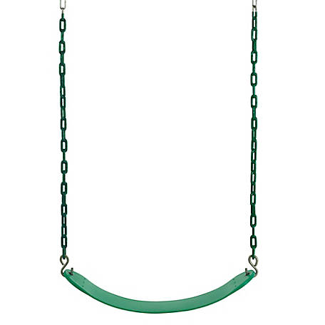 Swingan Vinyl Coated Belt Swing, Green, SW27VC-GN