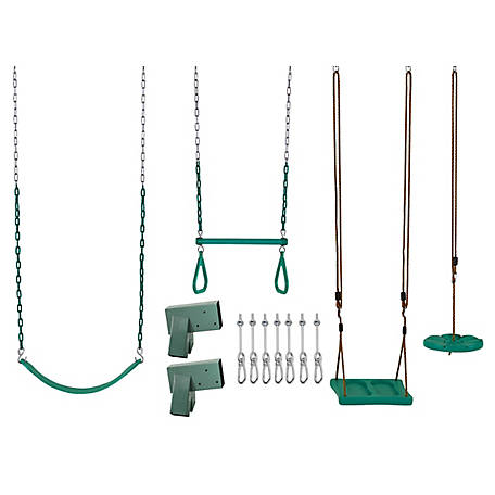 Swingan DYI Swing Set Kit, Green, SWGK01-4-GN