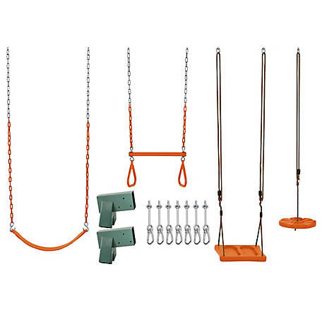 Swingan DIY Swing Set Kit, Orange, SWGK01-4-OR