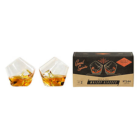 Gentlemen's Hardware Rocking Whisky Glasses X2 AGEN144