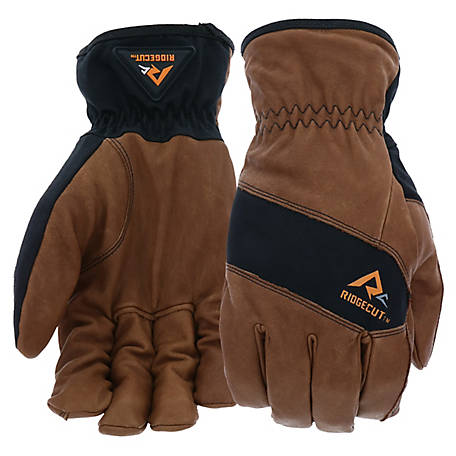 Ridgecut Leather Driver Duck Can Insulation Gloves