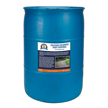 1 Shot 55 gal. Drum Calcium Chloride Dust Control, 1S-CACL-55