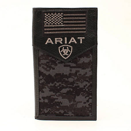Ariat Rodeo Flag Patch Black A3536401