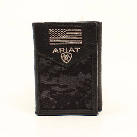 Ariat Trifold Flag Patch Black A3536601