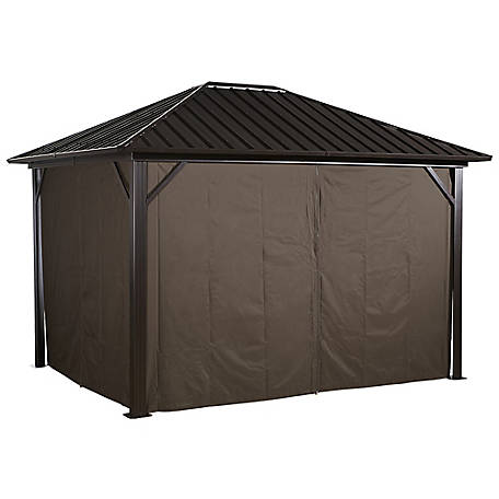 Sojag Curtains Genova 10 x 12 ft. Brown Gazebo, 135-9161373