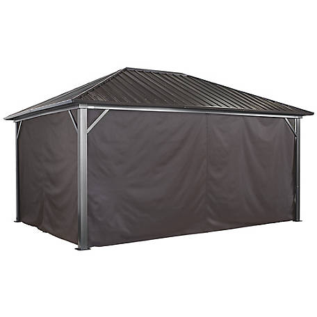 Sojag Curtains Genova 10 x 14 ft. Brown Gazebo, 135-9163889