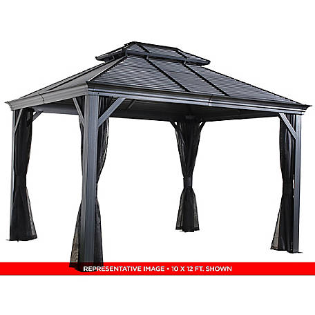 Sojag Mykonos II Double Roof Gazebo 10 x 14 ft., 500-9165210