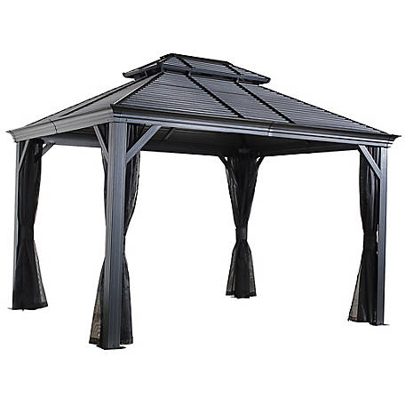 Sojag Mykonos Double Roof Gazebo 12 x 14 ft., 500-9165357