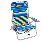 RIO Gear 4 Position Lace-Up Aluminum Beach Backpack Chair, Stripe, SC529-1911-1