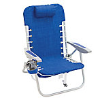 RIO Gear 4 Position Lace-Up Aluminum Beach Backpack Chair, Blue, SC529-1913-1