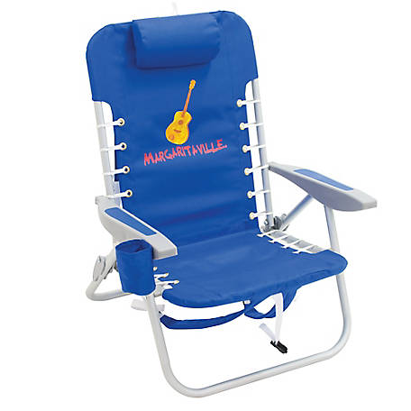 Margaritaville 4-Position Backpack Beach Chair, Pacific Blue, SC529MV-506-1