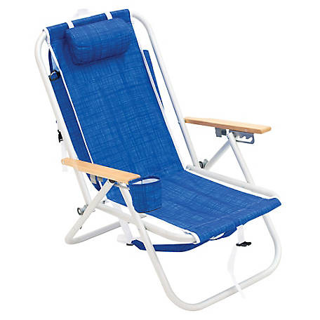 Wondrous Rio Gear Aluminum 4 Position Backpack Beach Chair Blue Sc540 1913 1 At Tractor Supply Co Home Interior And Landscaping Ferensignezvosmurscom