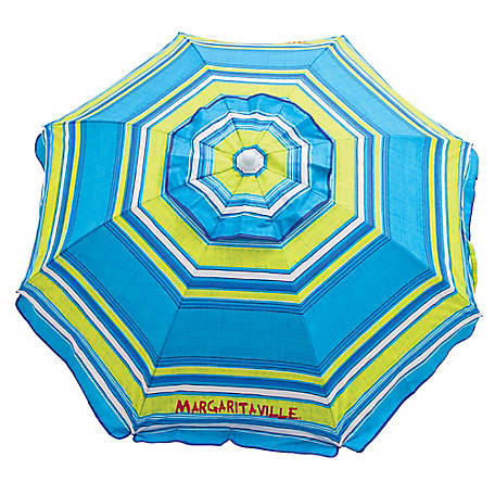 RIO Margaritaville 6 ft. Beach Umbrella With Built-in Sand Anchor UB79MV-504-1