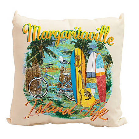 Margaritaville Double Sided Throw Pillows Island Life TPSET34-1