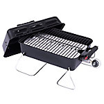 Char-Broil Deluxe 11,000 BTU Gas Tabletop Grill with Push-Button Ignition & 190 sq. in. Cooking Space, 465620011P