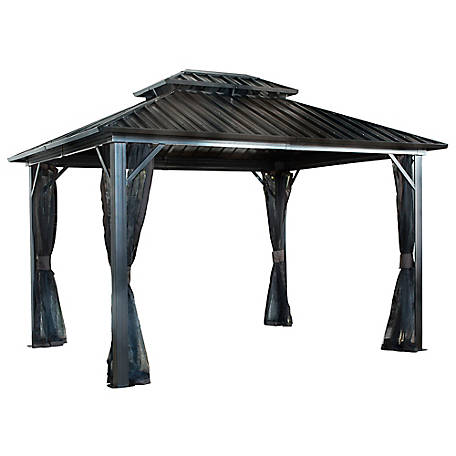Sojag Genova II Double Roof Gazebo 12 X 12 ft., 500-9165067