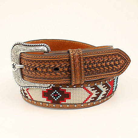 Ariat Men's Aztec Beads Belt, Multi A1033297