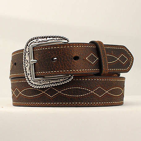 Ariat Men's Tan Boot Stitch Belt, Brown A1034202