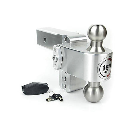Weigh Safe 180 Hitch Stainless Steel Combo Ball 4 in. Drop Hitch with 2.5 in. Shank, LTB4-2.5