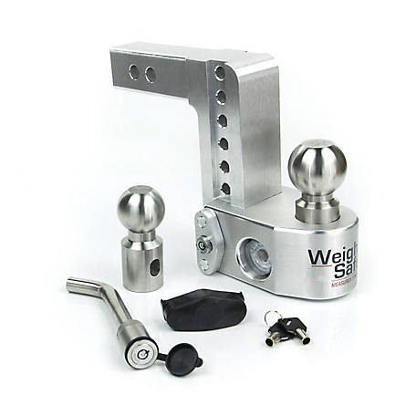 Weigh Safe 6 in. Drop Hitch with 2 in. Shank Keyed Alike Hitch Pin Included, WS6-2-KA