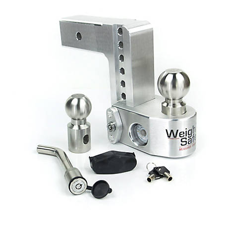 Weigh Safe 6 in. Drop Hitch with 2.5 in. Shank Keyed Alike Hitch Pin Included, WS6-2.5-KA