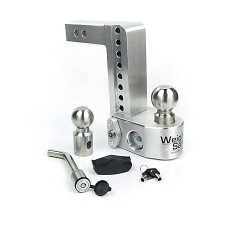 Weigh Safe 8 in. Drop Hitch with 2 in. Shank Keyed Alike Hitch Pin Included, WS8-2-KA