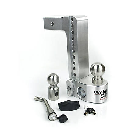 Weigh Safe 10 in. Drop Hitch with 2.5 in. Shank Keyed Alike Hitch Pin Included, WS10-2.5-KA