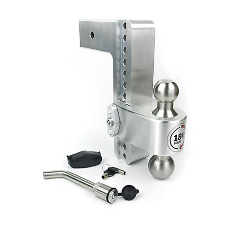 Weigh Safe Turnover Ball 10 in. Drop Hitch with 3 in. Shank Keyed Alike WS05 Included, LTB10-3-KA
