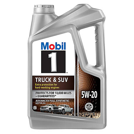 Mobil 1 Truck & SUV Full Synthetic Motor Oil 5W-20, 5 qt., 124575