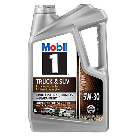 Mobill 1 Truck & SUV Full Synthetic Motor Oil 5W-30, 5 qt., 124600