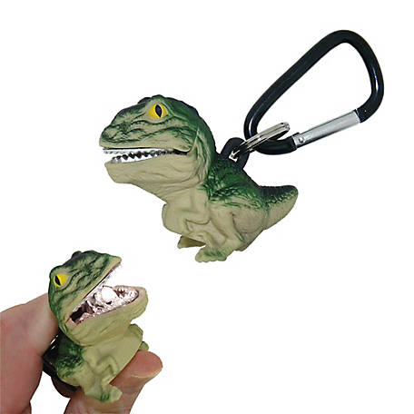 Sun Company Wildlight Animal Carabiner Flashlight - Green T-Rex, 653-G