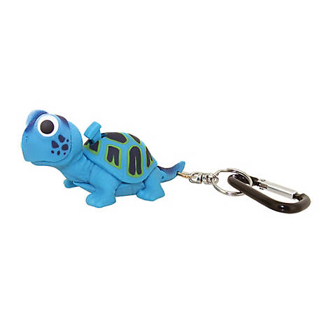 Sun Company Wildlight Animal Carabiner Flashlight - Blue Turtle, 654-B